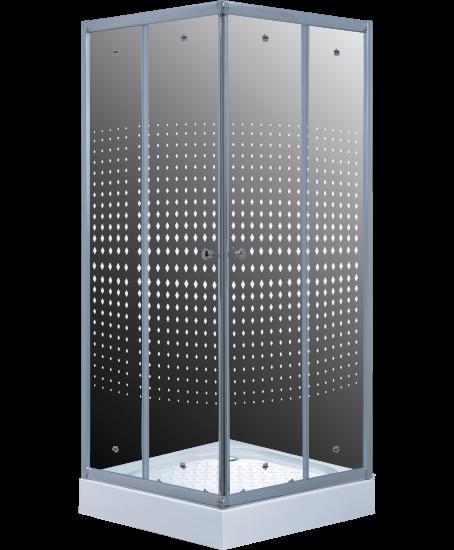 Timo душевой угол TL-1102 Romb Glass (100*100*200), шт